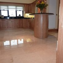 Polished Crema Marfil Kitchen Tiler