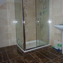 Crema Marfil Shower Tiling