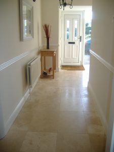 Travertine Hallway
