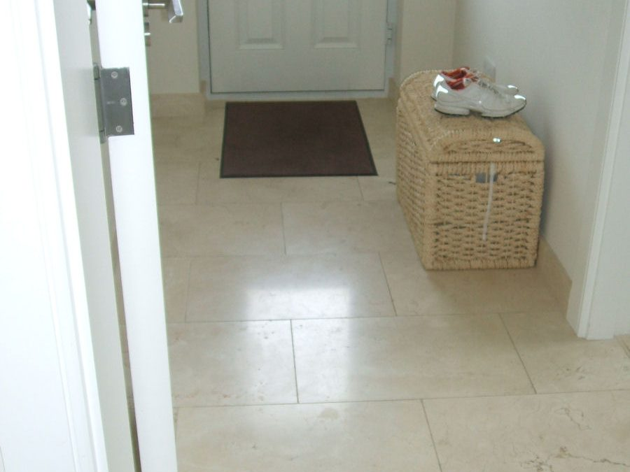 Tiled Back Hall Floor