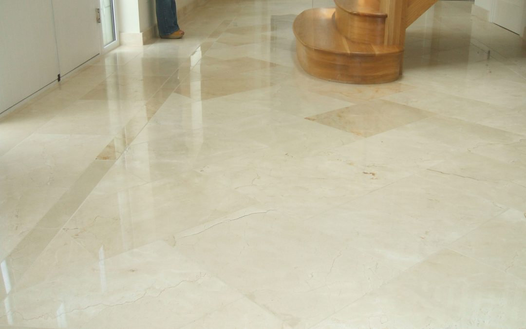 Crema Marfil Polished Marble Hall