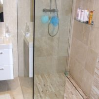 Mosaic and Marble Wetroom