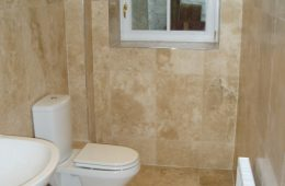 Travertine Shower Room