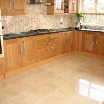 Cream Marble Kitchen Floor