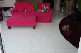 White Marble Kitchen Floor