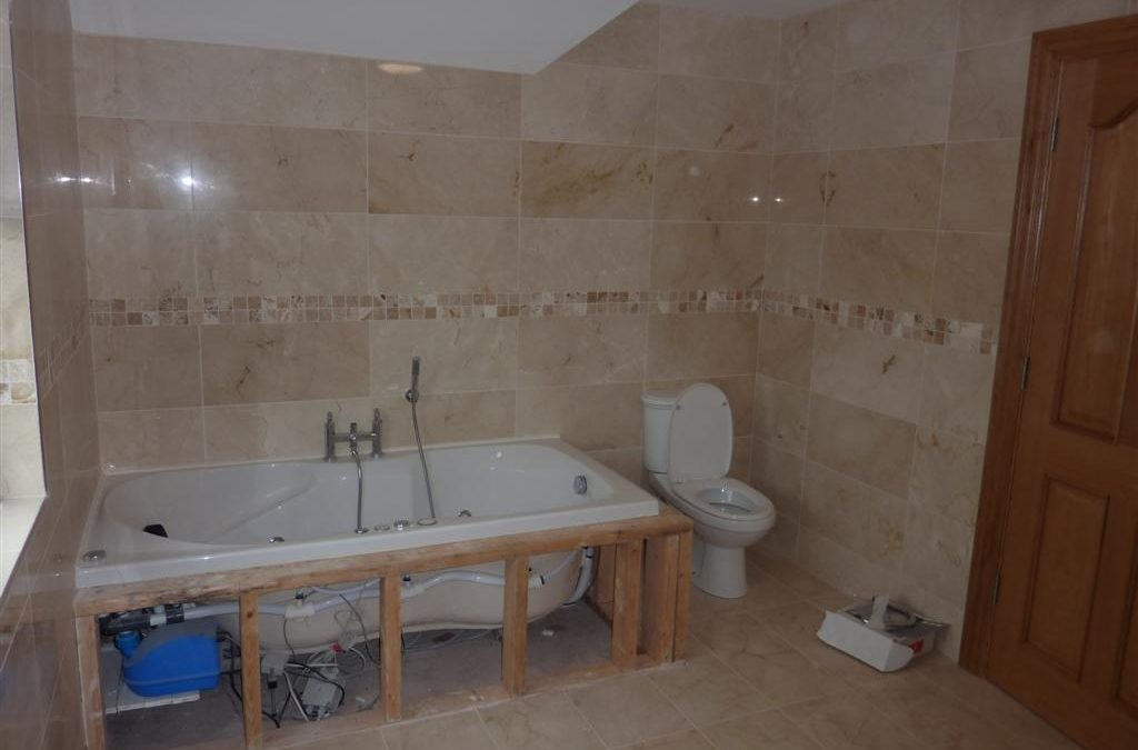 Marble and Mosaic Bathroom Tiling