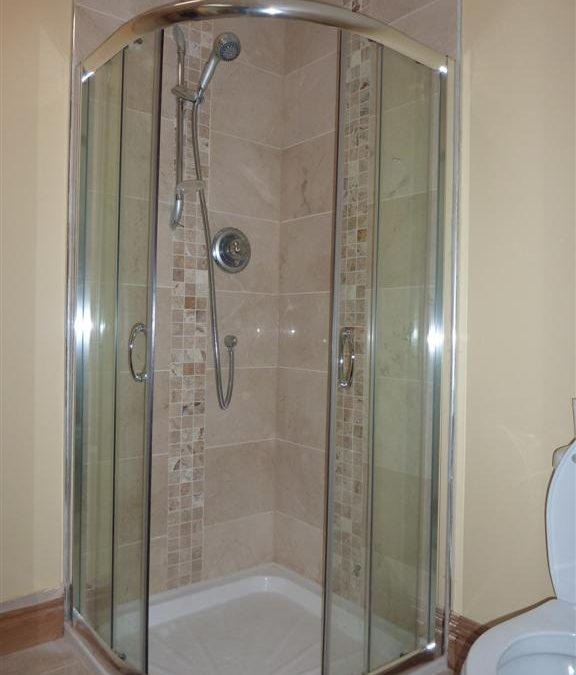 Marble and Mosaic Tiled Shower