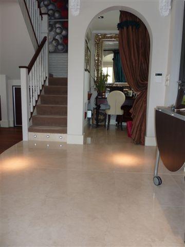 Cream Marble Hallway