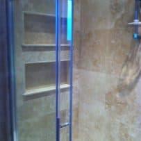 Shelves Tiled in a Shower