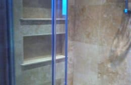 Shelves Tiled in a Shower