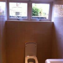 Downstairs Travertine Bathroom