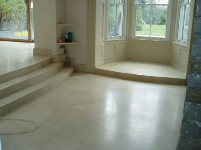 Floor Tiling in Marble