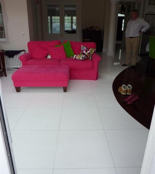 Floor Tiling White Marble Kitchen