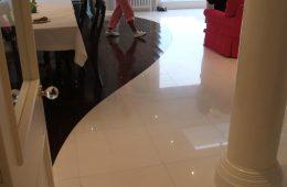 Floor Tiling White Kitchen Floor
