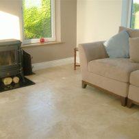Floor Tiling Travertine Sunroom Floor