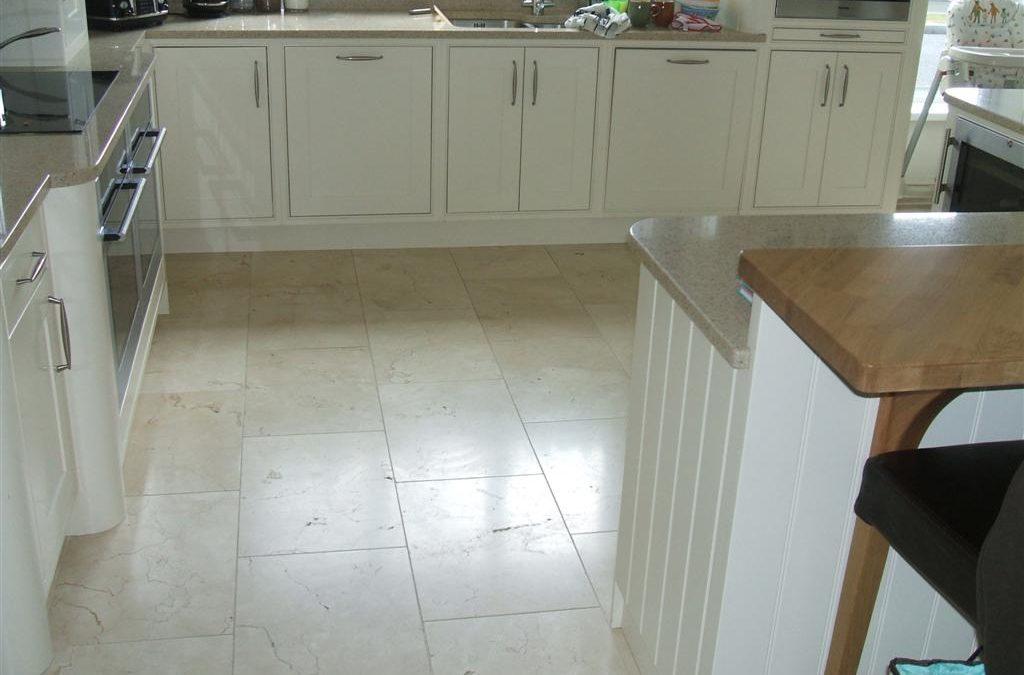 Floor Tiling Crema Marfil Kitchen