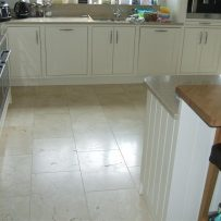 Floor Tiling Crema Marfil Kitchen