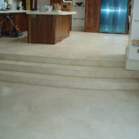 Floor Tiling Kitchen Steps