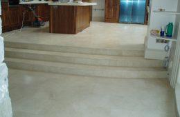 Floor Tiling Kitchen Steps