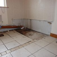 With sanitary ware removed