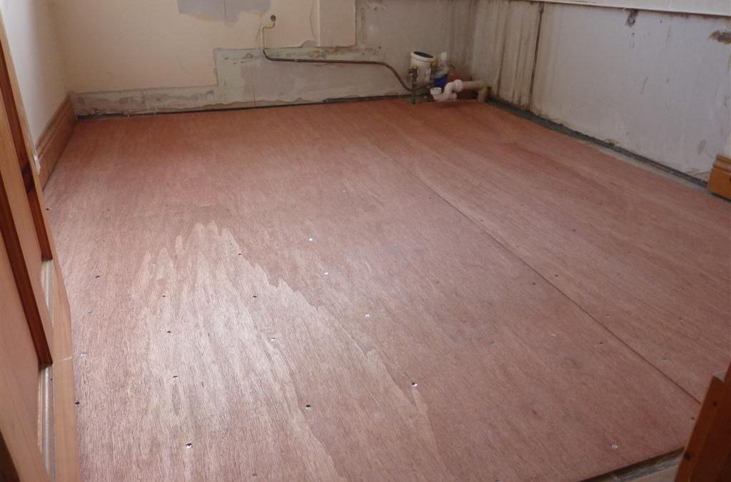 6mm Waterproof Ply Board covering all floor