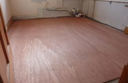 6mm Waterproof Ply Board covering all floor