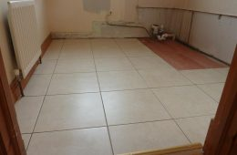New tiles fitted with flexible adhesive