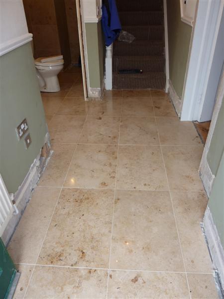 Jura Limestone Tiled Hallway