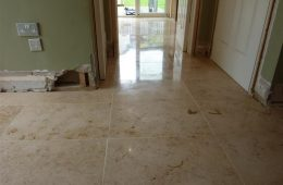 Jura Limestone Tiled Hall & Kitchen floor