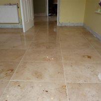Jura Limestone Tiled Kitchen & Hall floor