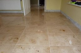Jura Limestone Tiled Kitchen & Hall floor