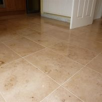 Jura Limestone Tiled Kitchen floor