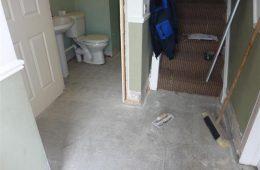 Hallway & Bathroom Prepared for tiling
