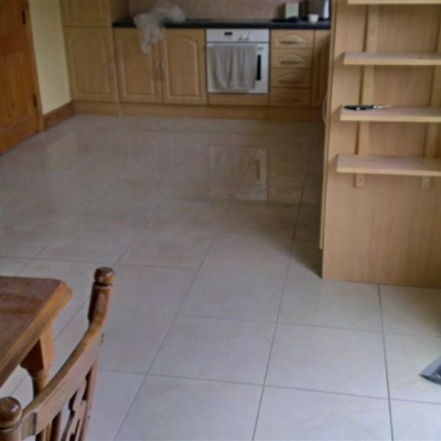 Kitchen Floor with new tiles 3