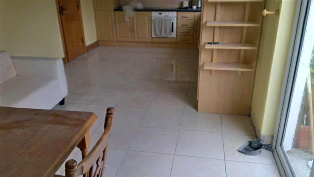 Kitchen Floor with new tiles 3