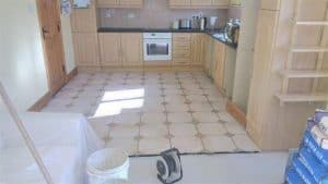 Kitchen Floor with old tiles