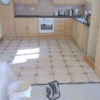 Tiling kitchen Floor 1