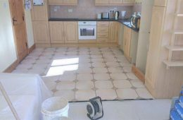 Tiling kitchen Floor 1
