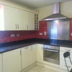 Red Subway Kitchen tiles