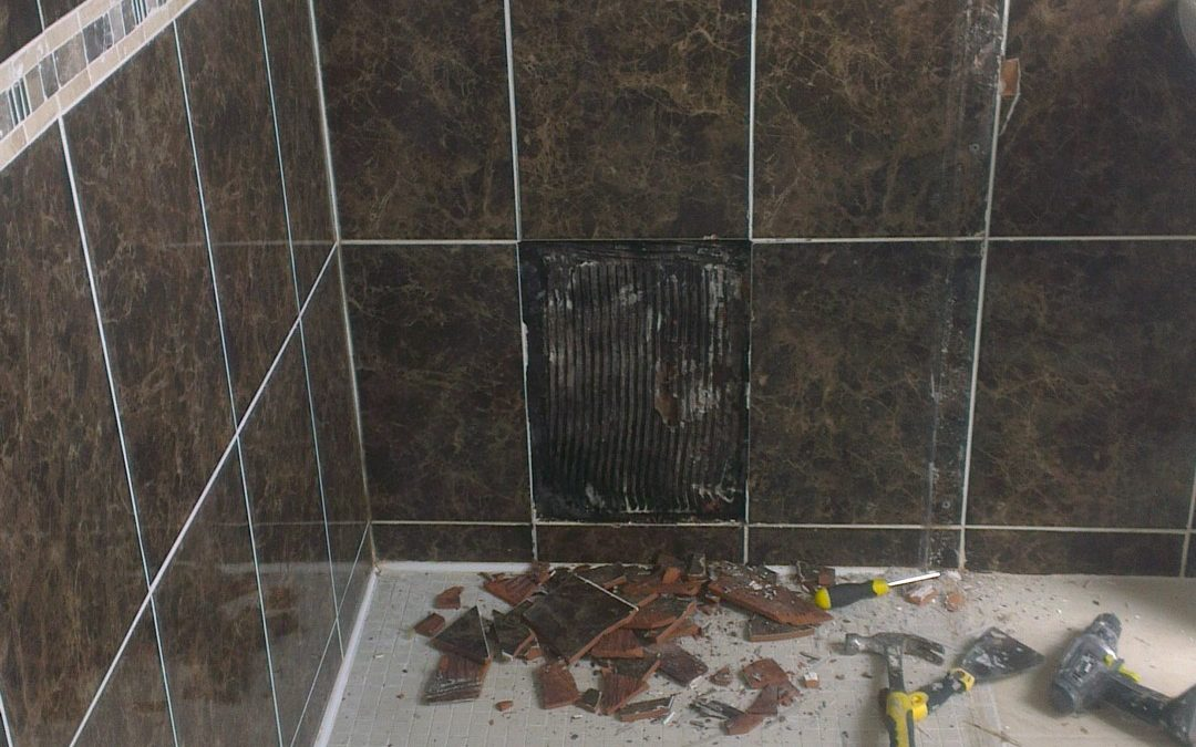 This wetroom was leaking too so had to be repaired