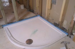 Blue Classy Seal installed to shower tray, every shower and bath should have one