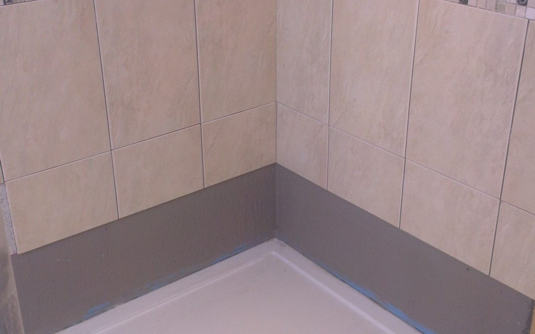 Re-tiling the shower with the same tiles as originally supplied