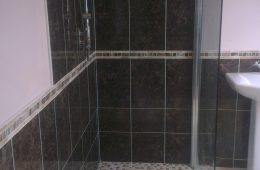 Tiling completed and shower screen installed, wetroom completed :)