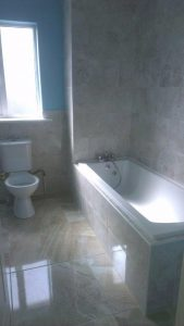 New bathroom suite and tiling in Kildare