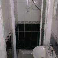 Original tiles in the shower area