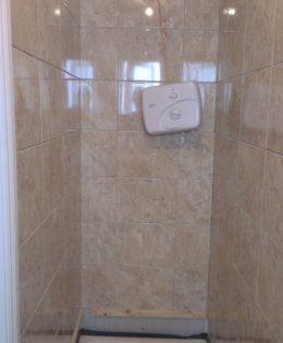 Tiling shower area