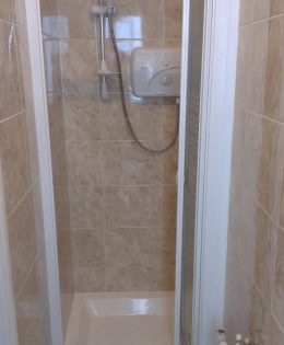 Shower doors fitted
