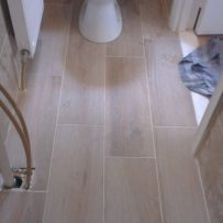 Non slip timber effect tiles fitted