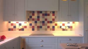 multi coloured kitchen wall tiles