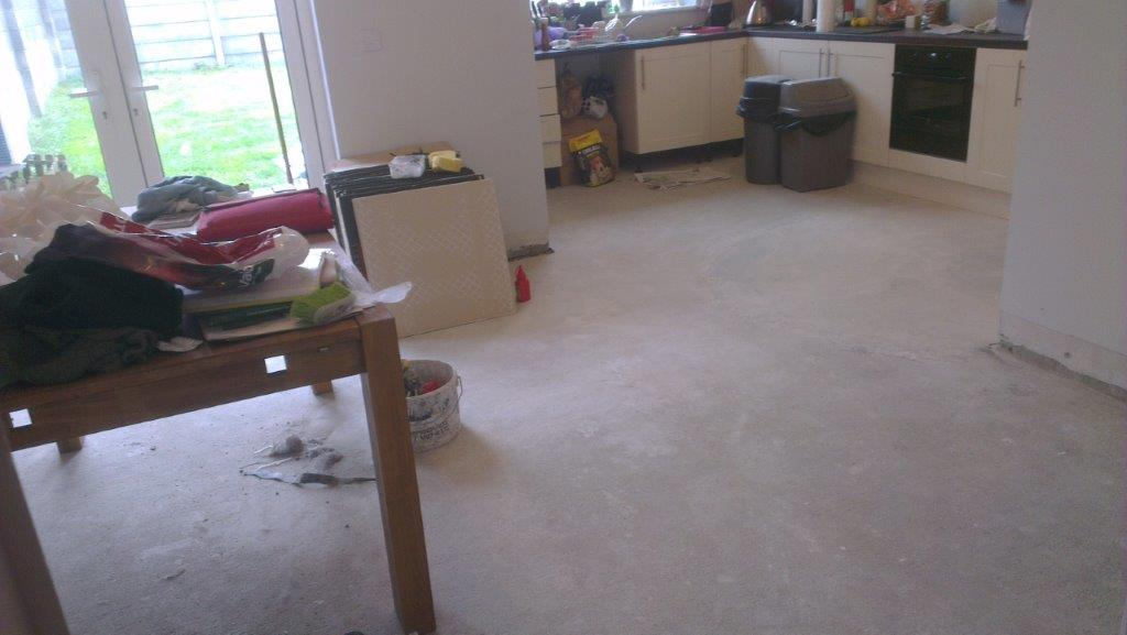 Kitchen & hall tiling in Nurney 9